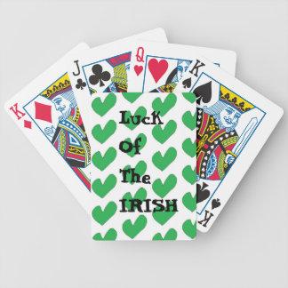 Jeu De Cartes Chance des cartes de jeu irlandaises de bicyclette