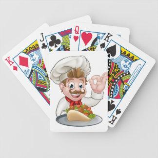 Jeu De Cartes Chef de bande dessinée avec le chiche-kebab