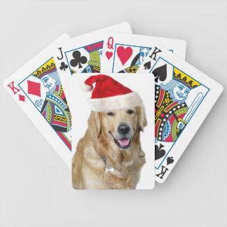 Jeu De Cartes Chien-animal familier de Labrador Noël-père Noël