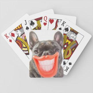 Jeu De Cartes Chien de sourire des images   A de Getty