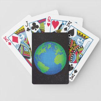 Jeu De Cartes Ciel étoilé de carte de globe du monde