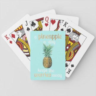 Jeu De Cartes Citation de la vie d'ananas