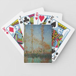 Jeu De Cartes Claude Monet - l'illustration de peupliers