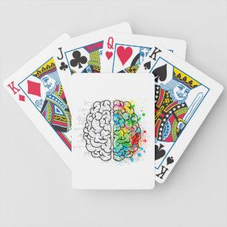 Jeu De Cartes coeurs d'idée de psychologie d'esprit de cerveau