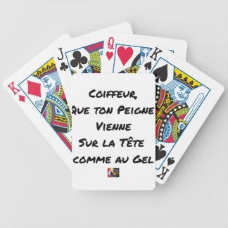JEU DE CARTES COIFFEUR, QUE TON PEIGNE VIENNE SUR LA TÊTE COMME