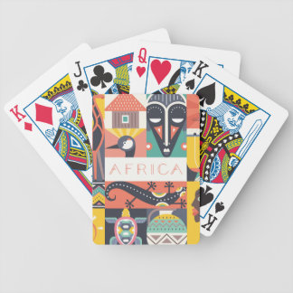 Jeu De Cartes Collage symbolique africain d'art