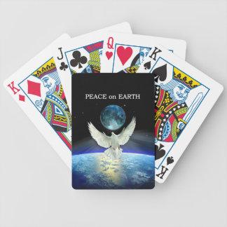 Jeu De Cartes Colombe de paix au-dessus de la terre de planète