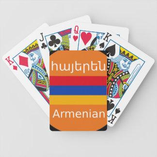 Jeu De Cartes Conception arménienne de drapeau et de langue