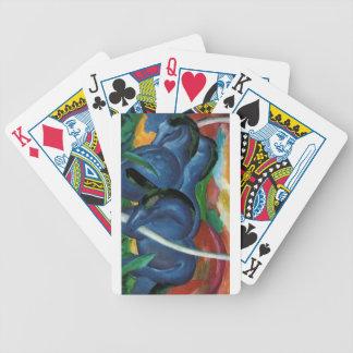 Jeu De Cartes conception bleue de chevaux de marc de Franz