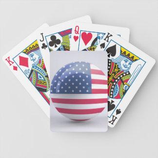 Jeu De Cartes conception de cercle d'Etats-Unis-drapeau