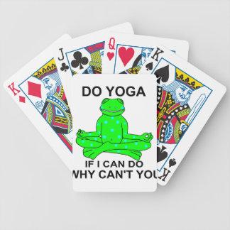 Jeu De Cartes Conception de inspiration de grenouille de yoga