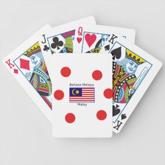 Jeu De Cartes Conception de langue de drapeau et de Malais de la