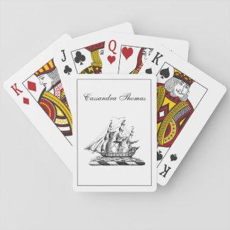 Jeu De Cartes Crête nautique vintage héraldique de bateau de