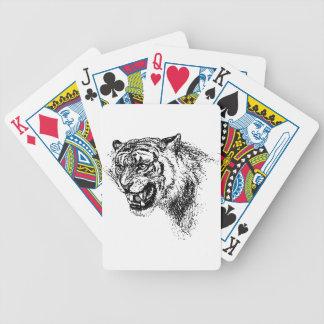 Jeu De Cartes Croquis principal de tigre