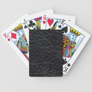 Jeu De Cartes Cuir noir