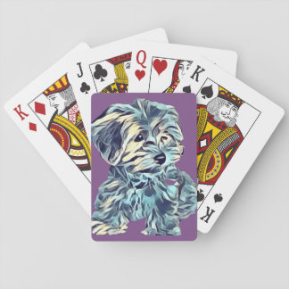 Jeu De Cartes Cuivrez les cartes de jeu d'art de chiot de