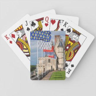 Jeu De Cartes d'Amboise de château et drapeau, France