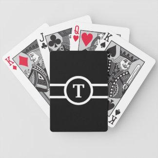 Jeu De Cartes ~ décoré d'un monogramme noir et blanc