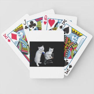 Jeu De Cartes Deux chatons blancs avec le caddie sur black.JPG
