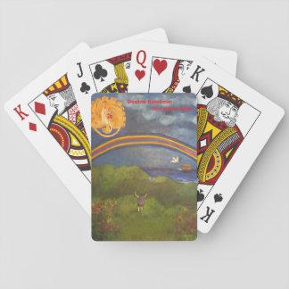 Jeu De Cartes Double plate-forme d'arc-en-ciel des cartes