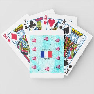 Jeu De Cartes Drapeau de la France et conception de langue