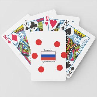 Jeu De Cartes Drapeau de la Russie et conception de langue russe