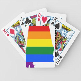 Jeu De Cartes Drapeau de l'Alabama LGBT
