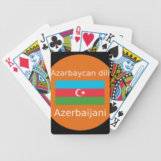 Jeu De Cartes Drapeau de l'Azerbaïdjan et conception de langue