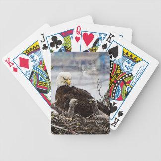 Jeu De Cartes Eagle chauve avec des aiglons