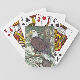 Jeu De Cartes Eagle chauve sur la branche