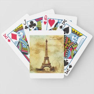 Jeu De Cartes Eiffel Tower vintage Paris