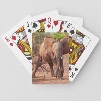Jeu De Cartes Éléphant dans la pose d'avertissement