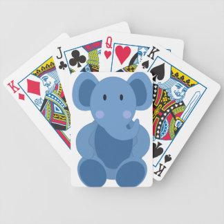 Jeu De Cartes Éléphant de bébé bleu