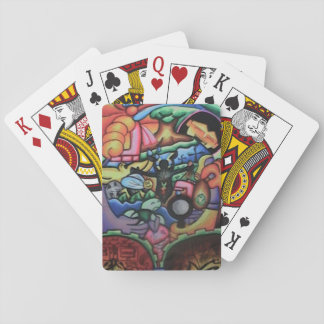 Jeu De Cartes Embrassement des cartes de jeu orientées de nature