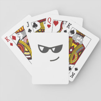 Jeu De Cartes Emoji avec des lunettes de soleil et un sourire