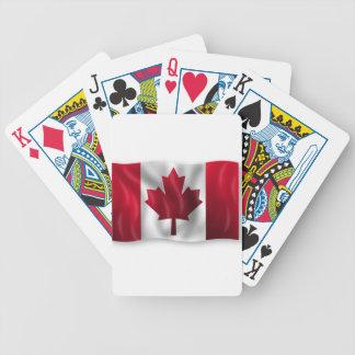 Jeu De Cartes Érable canadien de feuille d'emblème de pays de