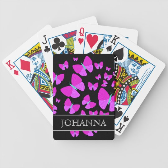 jeu de cartes essaim des papillons artistiques nom fait sur. Black Bedroom Furniture Sets. Home Design Ideas