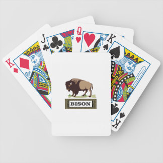 Jeu De Cartes Étiquette de buffle de Brown