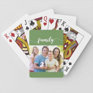 Jeu De Cartes Famille jouant le design de carte