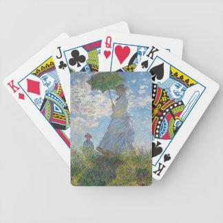 Jeu De Cartes Femme de Claude Monet | avec un parasol