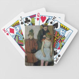 Jeu De Cartes Femme d'Edgar Degas | avec deux petites filles