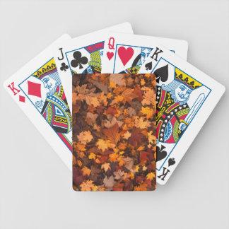 Jeu De Cartes feuillage d'automne