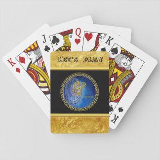 Jeu De Cartes Feuille d'or d'astrologie de zodiaque de Cancer