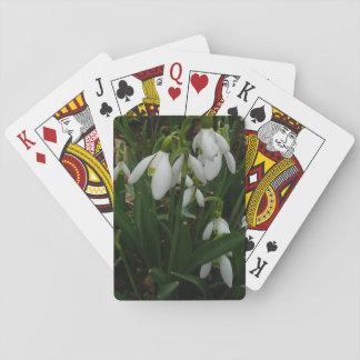 Jeu De Cartes Fleurs blanches de ressort des perce-neiges I
