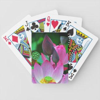 Jeu De Cartes Fleurs roses de Lotus