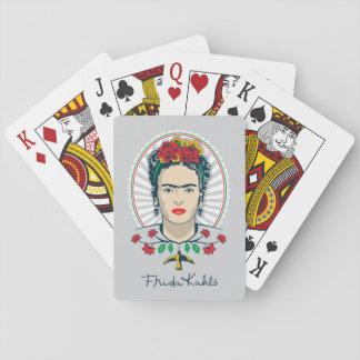 Jeu De Cartes Floral vintage de Frida Kahlo |