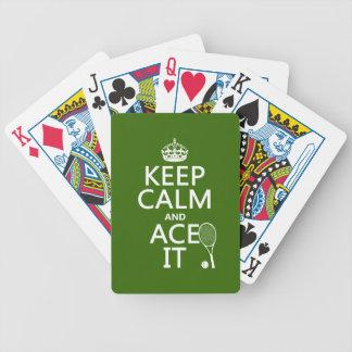 Jeu De Cartes Gardez le calme et Ace le (le tennis) (dans toute