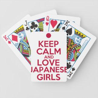 Jeu De Cartes Gardez le calme et aimez les filles japonaises