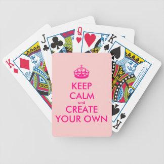 Jeu De Cartes Gardez le calme et créez vos propres - rose