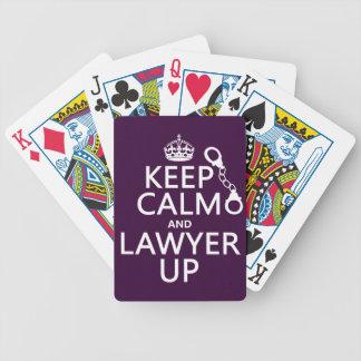 Jeu De Cartes Gardez le calme et l'avocat (toute couleur)